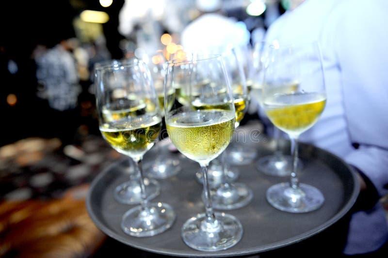 玻璃用香槟 图库摄影