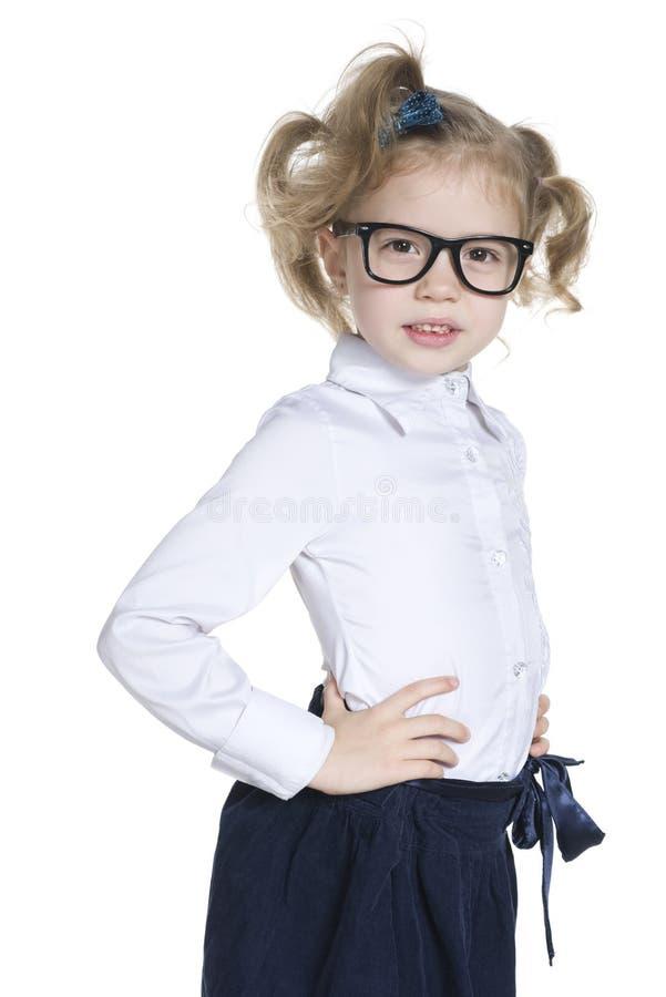 玻璃的聪明的小女孩 库存图片