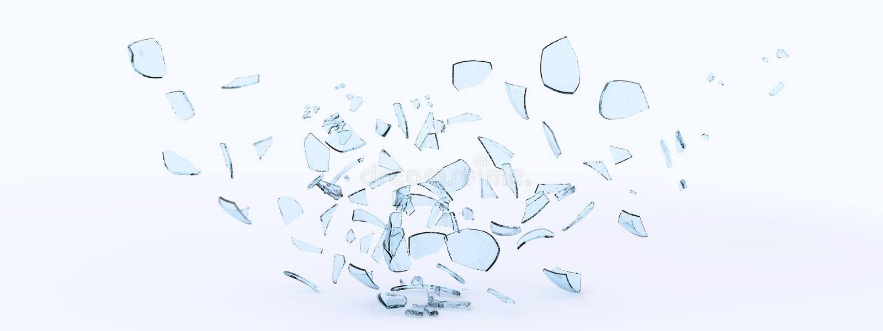玻璃碎片 库存例证