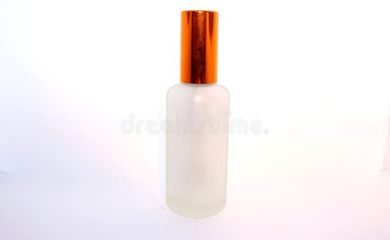 玻璃蓝色香水瓶 库存图片
