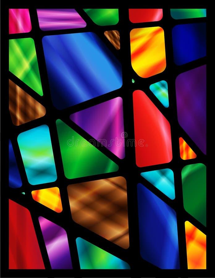 玻璃被弄脏的视窗 向量例证