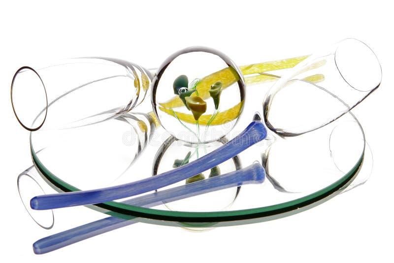 玻璃镜子光抽象假日 免版税图库摄影