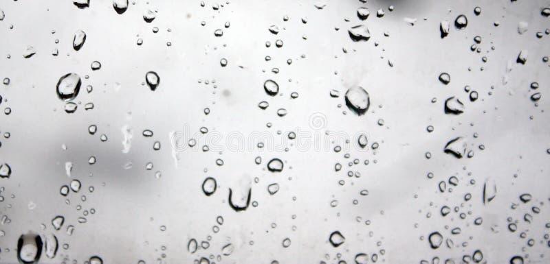 玻璃雨珠 库存照片