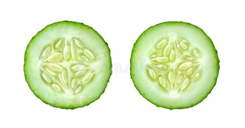 黄瓜切片 免版税图库摄影