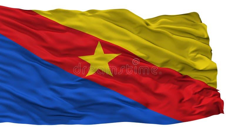瓜杜阿斯市旗子,哥伦比亚,昆迪纳马卡省,隔绝在白色背景 皇族释放例证
