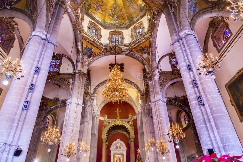 瓜达卢佩河圆顶墨西哥城墨西哥老大教堂寺庙  免版税图库摄影