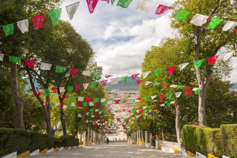 瓜达卢佩河教会的步 免版税库存图片