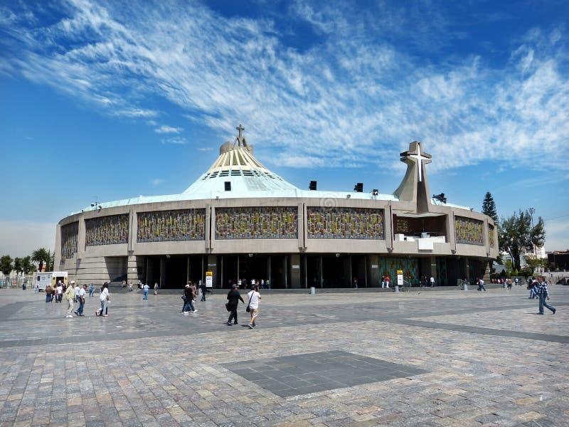 瓜达卢佩河,墨西哥城大教堂  库存照片