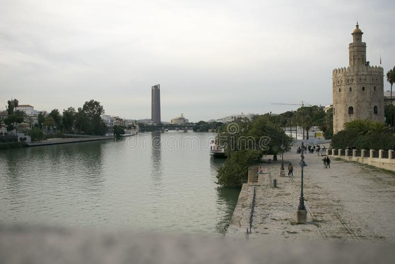 瓜达尔基维尔河河 免版税库存图片