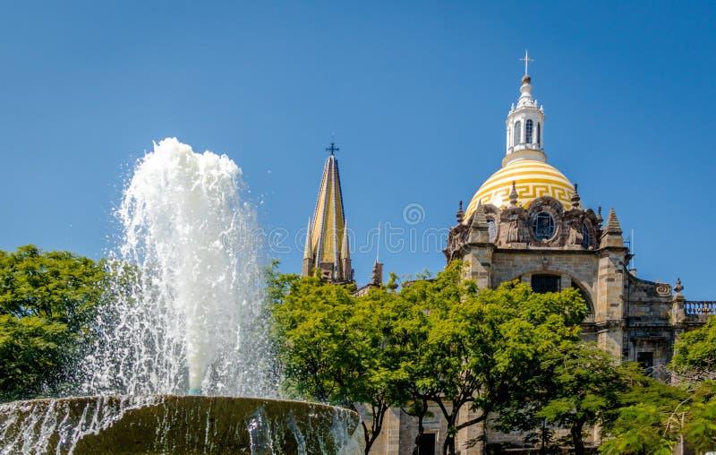 瓜达拉哈拉大教堂-瓜达拉哈拉,哈利斯科州,墨西哥 免版税图库摄影