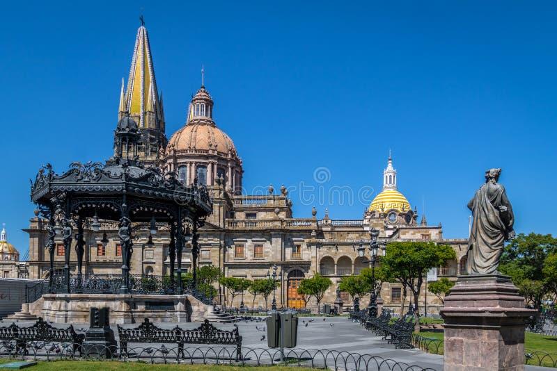 瓜达拉哈拉大教堂-瓜达拉哈拉,哈利斯科州,墨西哥 库存图片