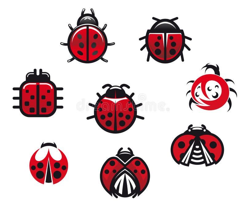 瓢虫和瓢虫 向量例证