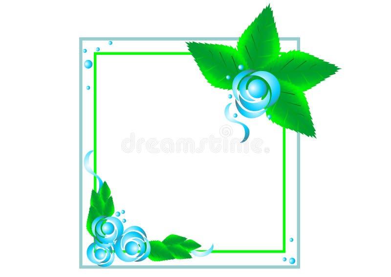 瓣美好的装饰传染媒介花框架  库存例证