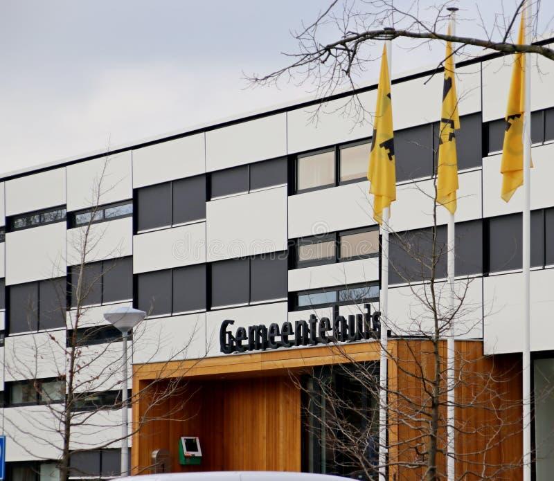瓦丁斯芬的自治市办公室包括城市counsil 图库摄影