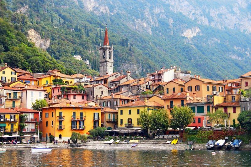 瓦伦纳, Como湖,意大利 免版税库存照片