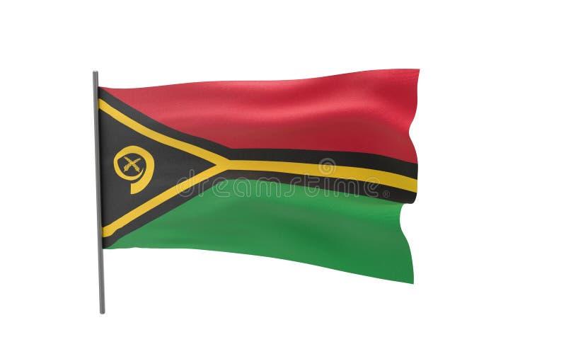 瓦努阿图的旗子 皇族释放例证