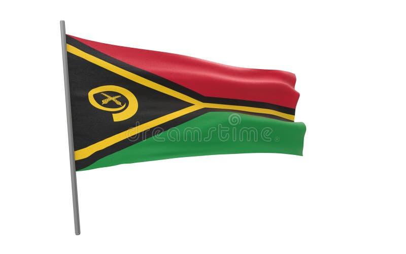 瓦努阿图的旗子 库存例证