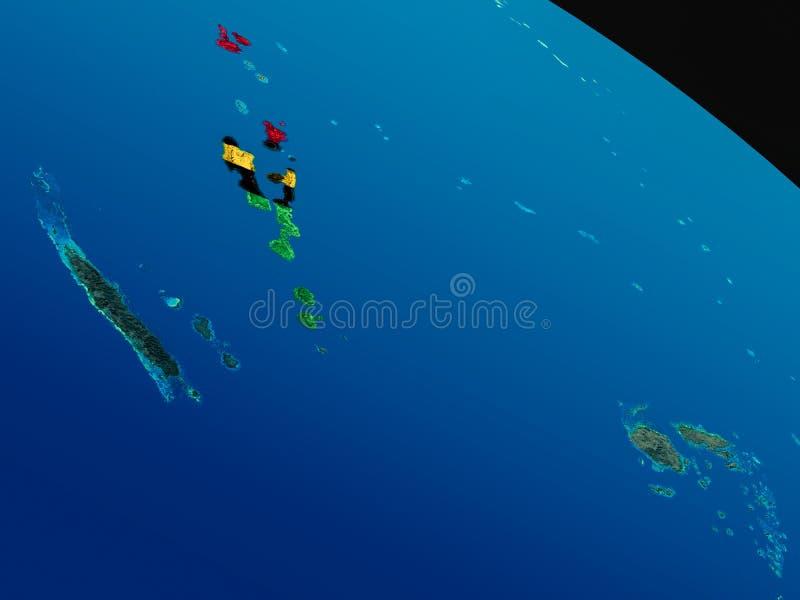 瓦努阿图的旗子从空间的 向量例证