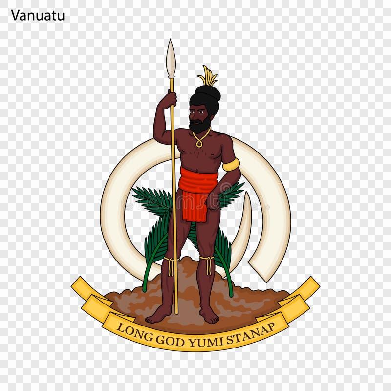 瓦努阿图的象征 皇族释放例证