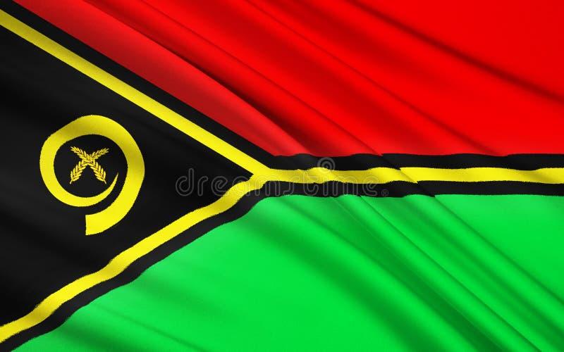 瓦努阿图,美拉尼西亚的旗子 向量例证
