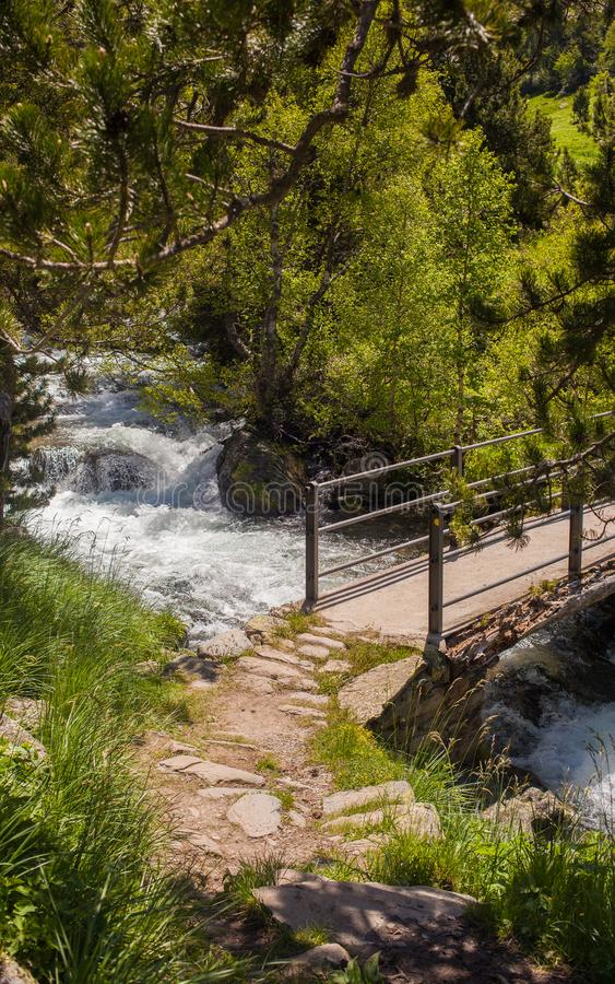 瓦勒de Sorteny自然公园安道尔比利牛斯 免版税库存照片