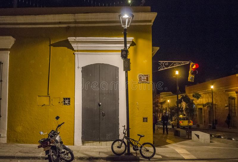 瓦哈卡,墨西哥在晚上 免版税图库摄影