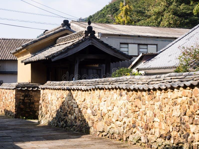 瓦器制造商传统日本房子-在有田町,日本 免版税库存图片