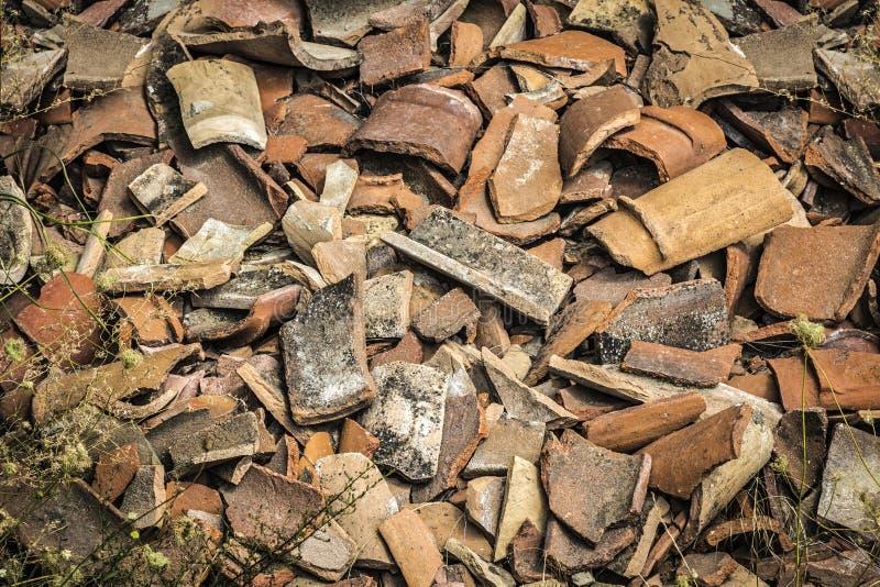 瓦器碎片  免版税图库摄影