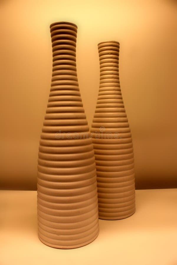 瓦器花瓶 库存照片