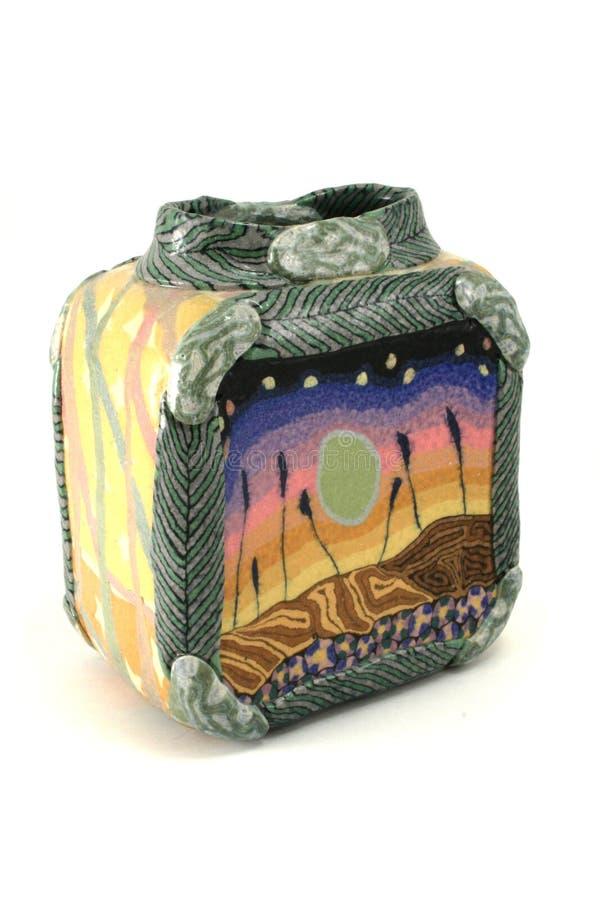 瓦器花瓶 免版税库存图片