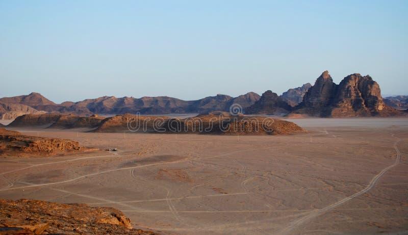 瓦地伦沙漠阵营,约旦 库存照片