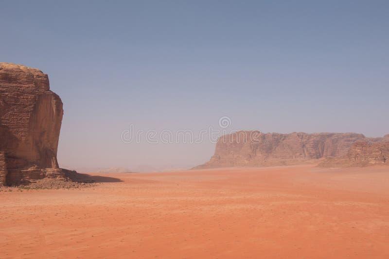 瓦地伦沙漠,约旦风景看法  库存图片
