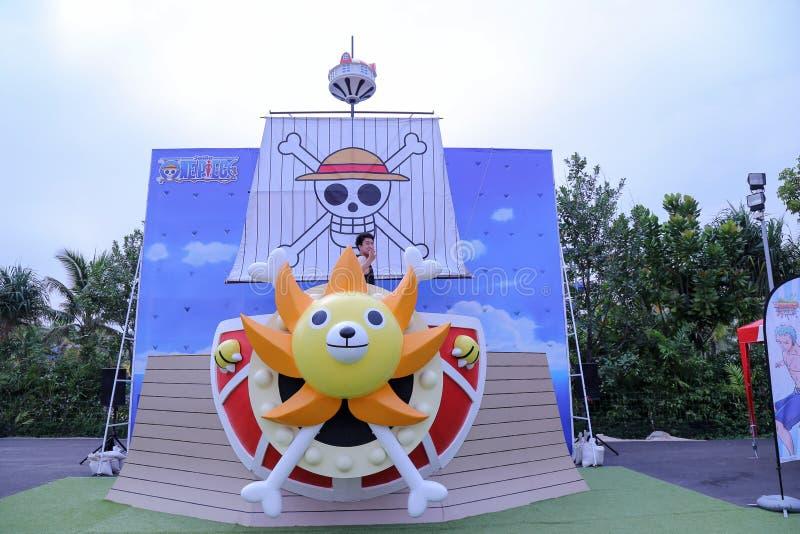 瓦娜纳瓦山口Waterpark华欣在一件狂欢节题材的华欣  库存图片