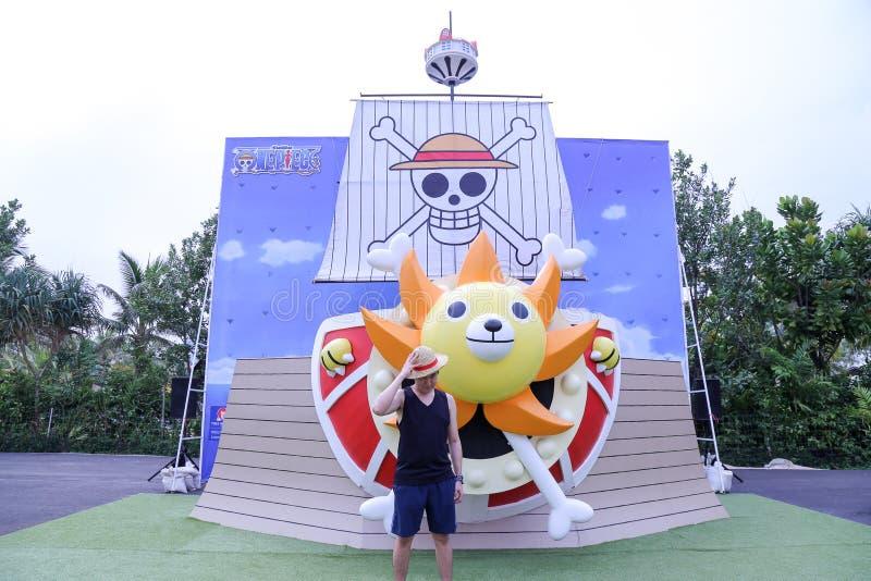 瓦娜纳瓦山口Waterpark华欣在一件狂欢节题材的华欣  免版税图库摄影