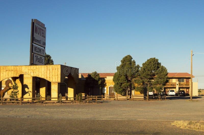 瓦尔大峡谷汽车旅馆在亚利桑那,美国 典型美国的汽车旅馆 免版税库存照片