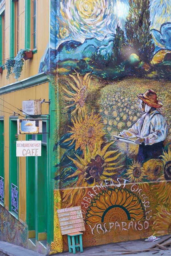 瓦尔帕莱索街道艺术  免版税库存照片