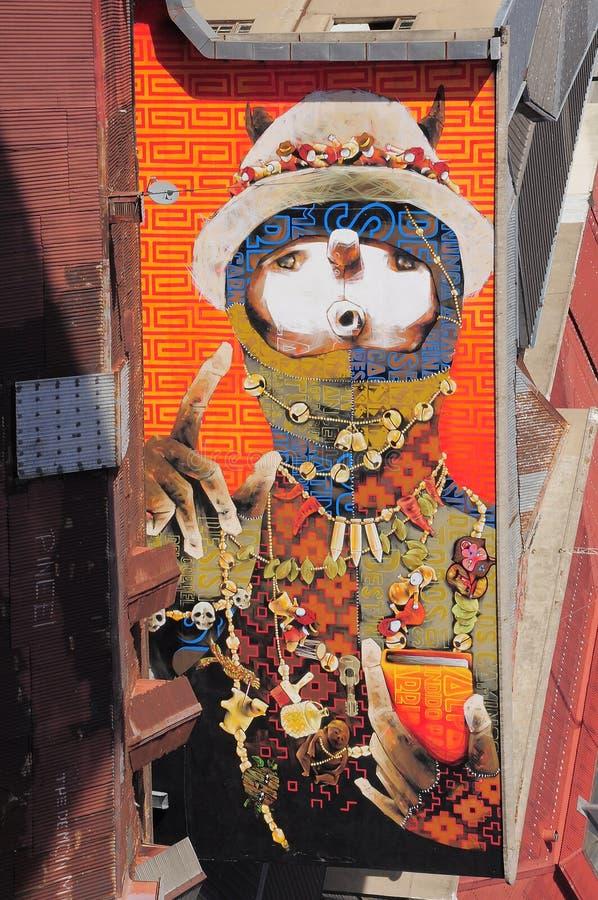 瓦尔帕莱索街道艺术  免版税库存图片
