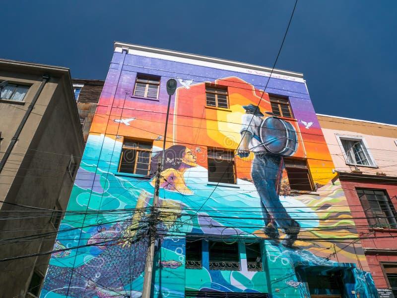 瓦尔帕莱索街道艺术  免版税图库摄影