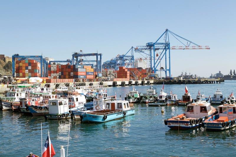 瓦尔帕莱索,智利港  库存图片