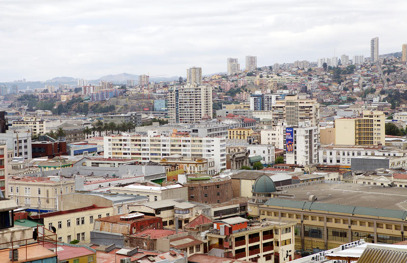 瓦尔帕莱索,智利看法  库存照片