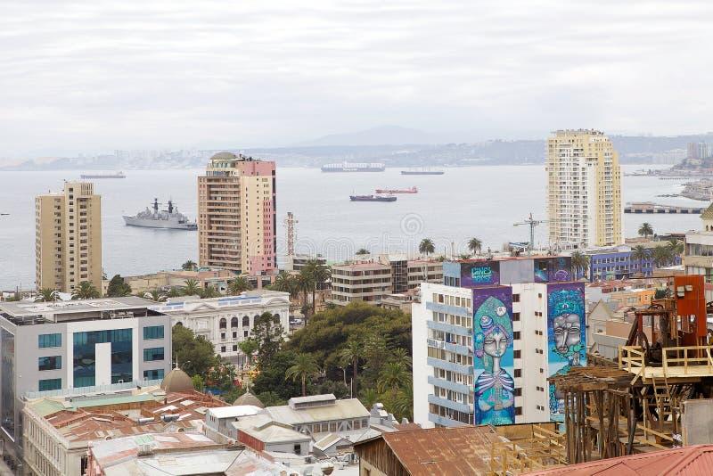 瓦尔帕莱索,智利看法  库存图片