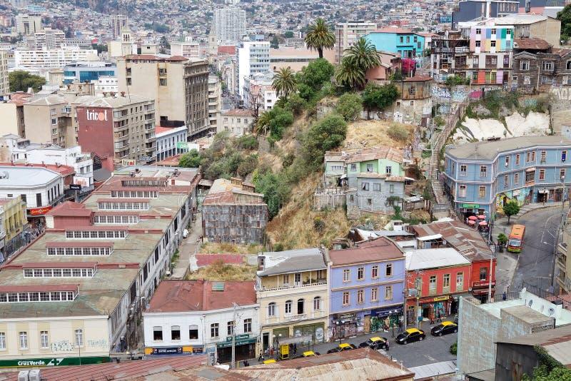 瓦尔帕莱索,智利看法  免版税库存图片