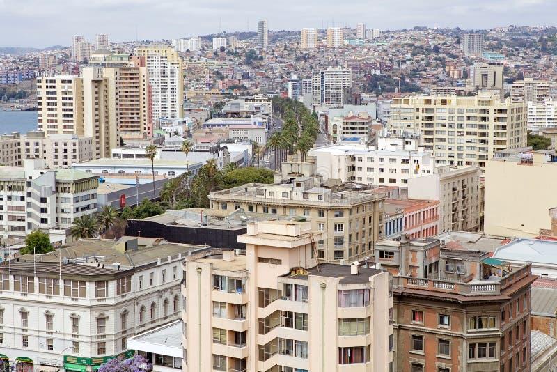 瓦尔帕莱索,智利看法  免版税图库摄影