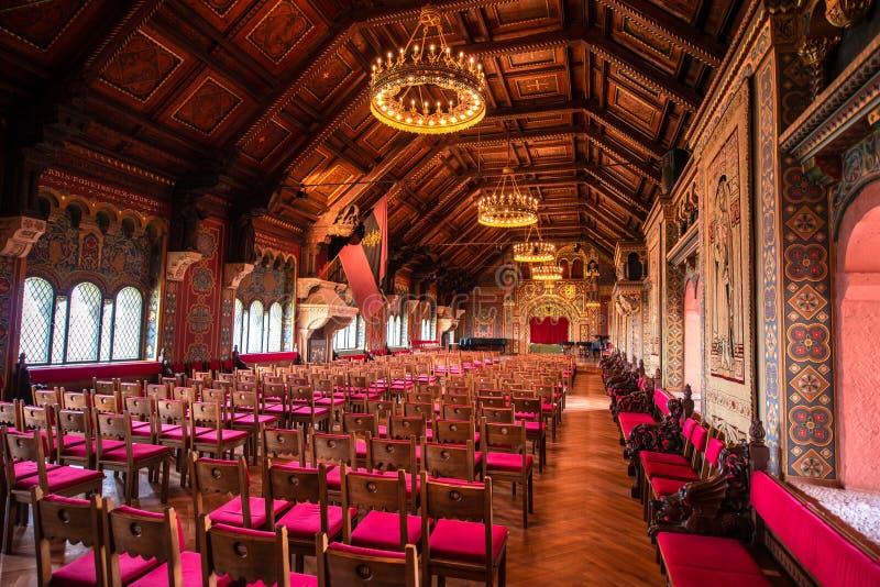 瓦尔特堡城堡的大厅 库存图片