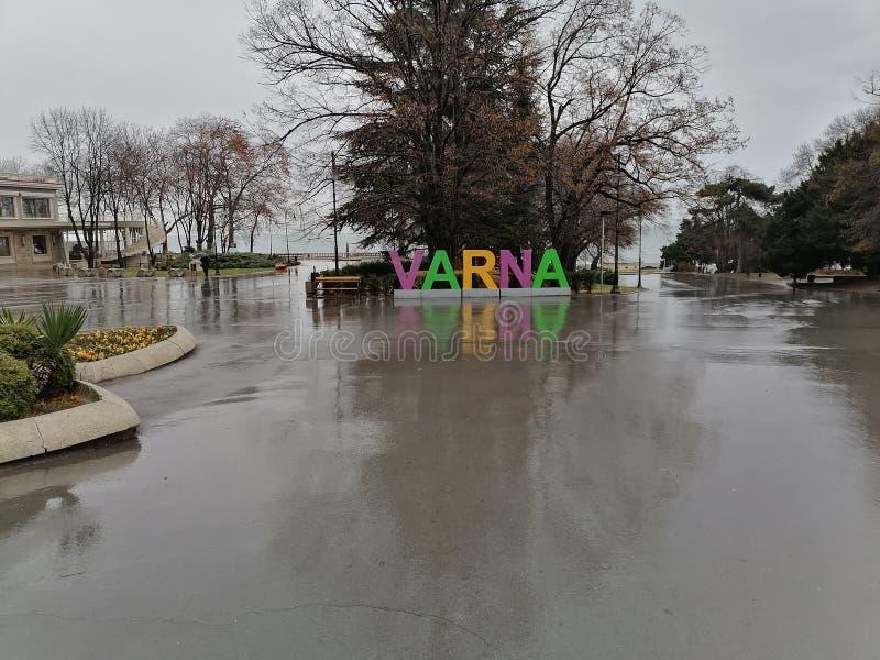 瓦尔纳保加利亚黑海花园 库存图片