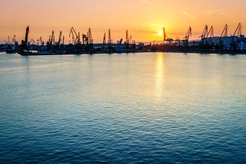 瓦尔纳黑海口岸在保加利亚 免版税库存图片