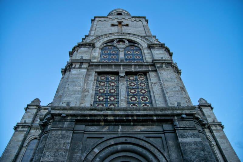 瓦尔纳,保加利亚大教堂  库存照片