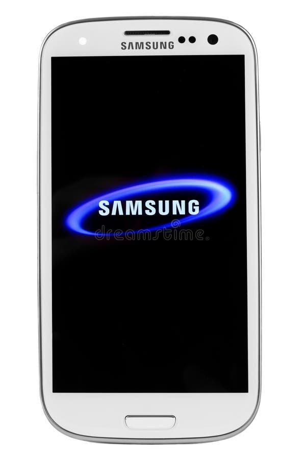 瓦尔纳,保加利亚- Juny 03日2012年:手机模型三星S3有 免版税库存图片