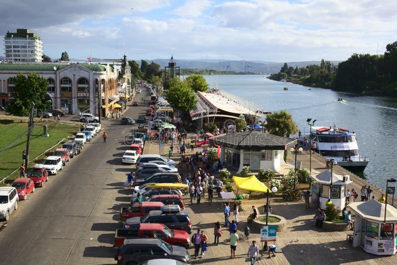瓦尔迪维亚,智利河沿  免版税库存照片