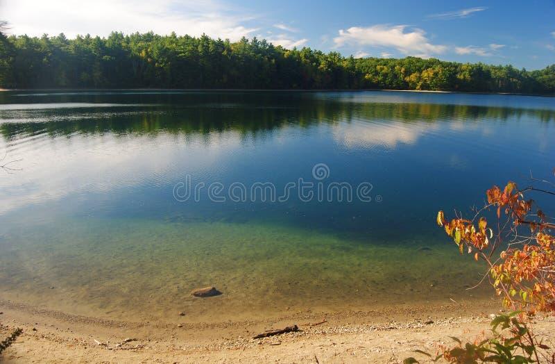 瓦尔登湖池塘在马萨诸塞,美国 图库摄影